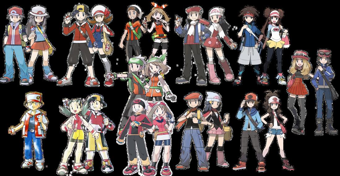 the girls of pokemon